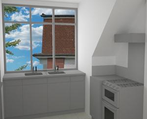 Second floor kitchen 2