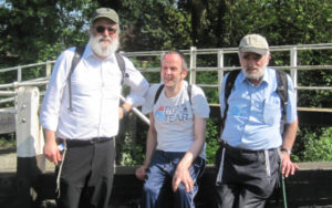 website Eli Sulzbacher, Kisharon support worker Moshe Perry, left, and Leo Sulzbacher